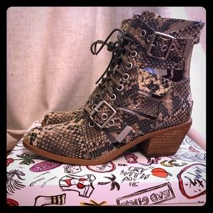 Free People Jeffrey Campbell Snakeskin boots